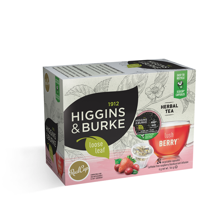 Higgins & Burke Loose Leaf Lush Berry 24CT