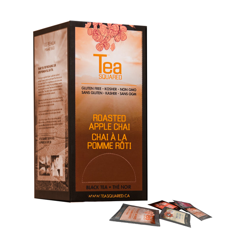 Tea Squared Roasted Apple Chai Pyramid Tea Bags 100ct