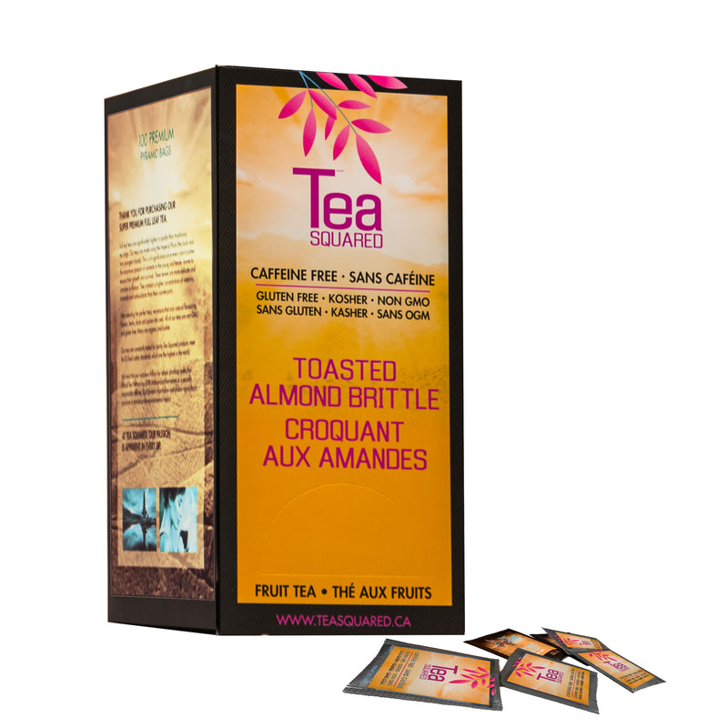 Tea Squared Toasted Almond Brittle Pyramid Tea Bags 100ct