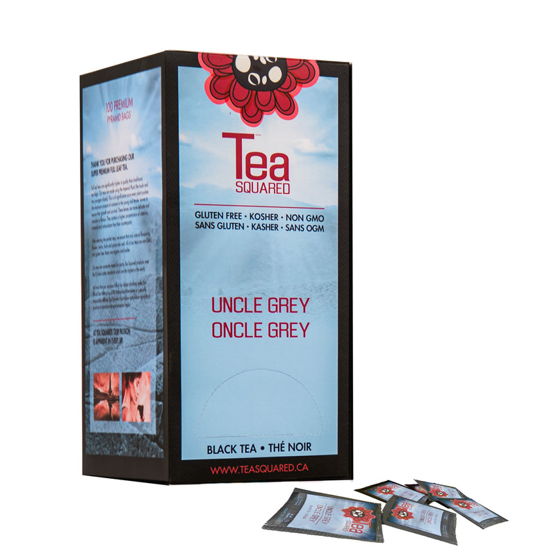 Tea Squared Uncle Grey Pyramid Tea Bags 100ct