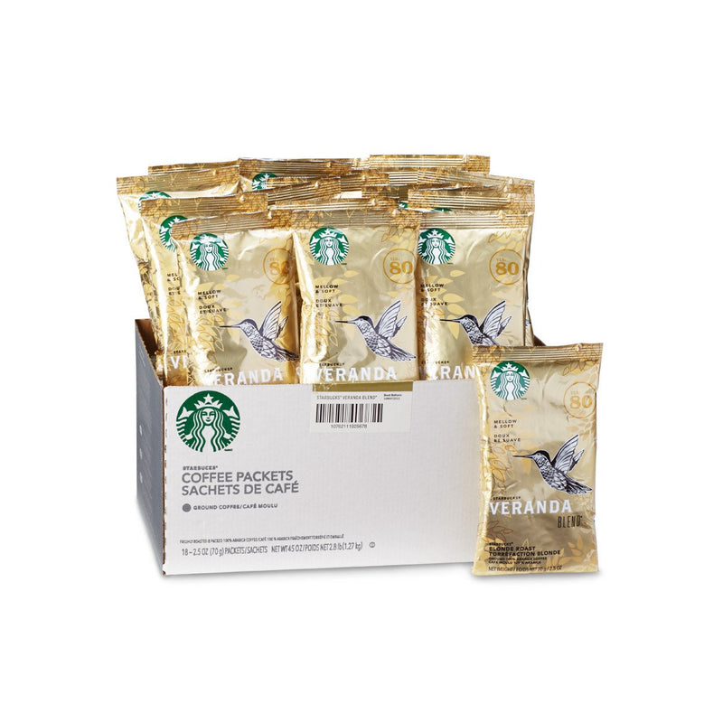 Starbucks Blonde Veranda Portion Packs 18 X 2.5 OZ