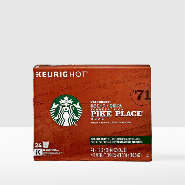 STARBUCKS DECAF PIKE PLACE ROAST K CUP 24 CT