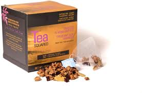 Tea Squared Toasted Almond Brittle Pyramid Tea Bags 12ct