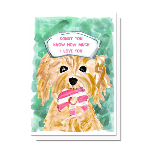 Donut Dog Card