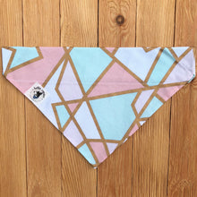 Mint, Blush & Gold Geometric Dog Bandana
