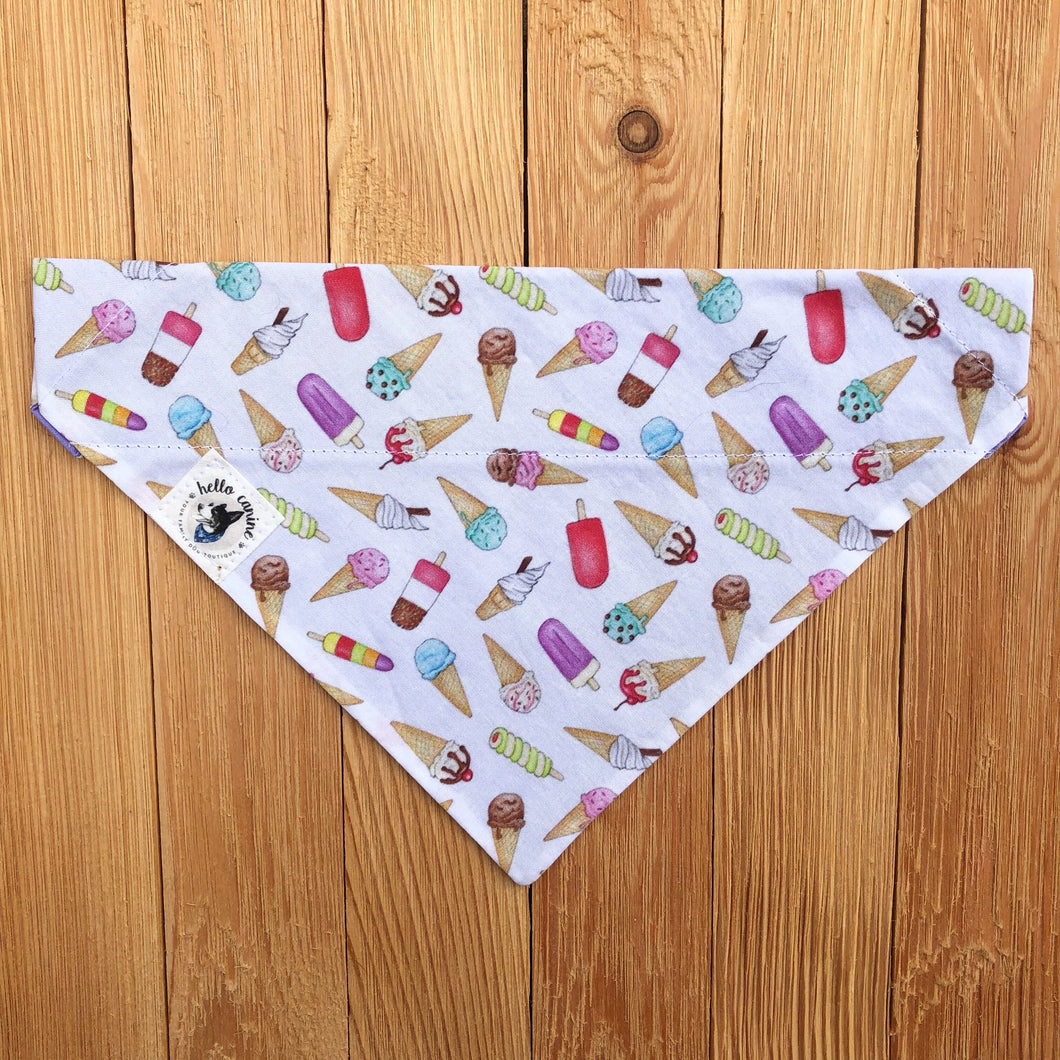 Ice Cream Dog Bandana