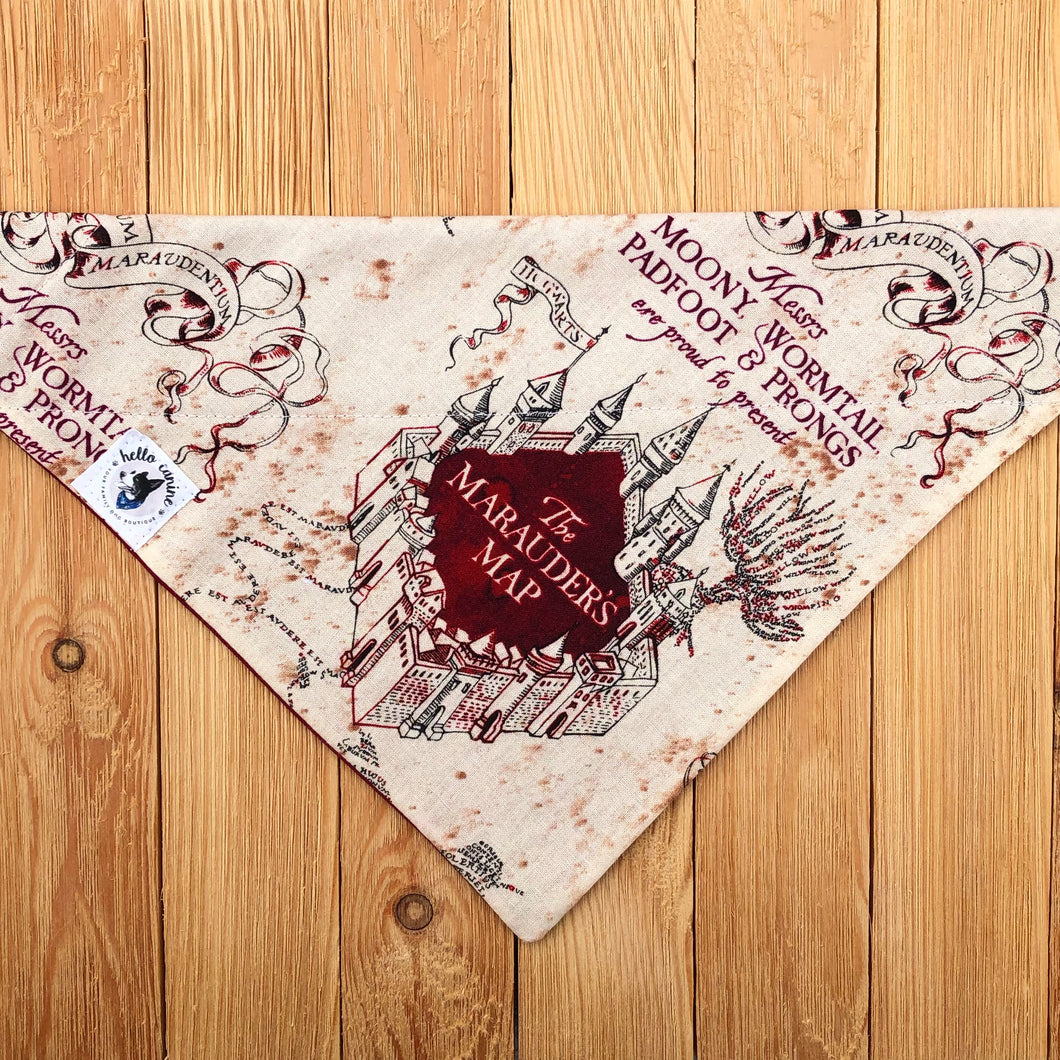Marauder's Map Dog Bandana