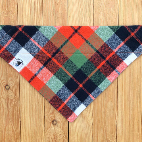 Fall Festival Plaid Dog Bandana