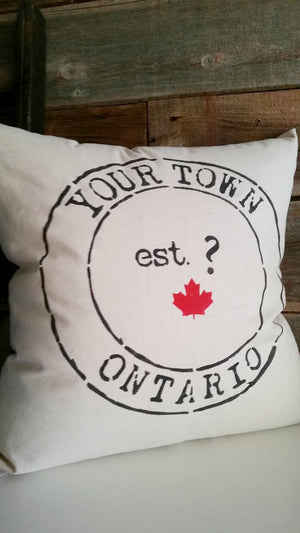 Your Town/Lake/Name Pillow
