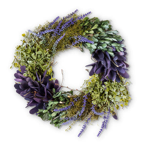 Lavender and Greens Wreath
