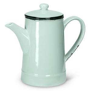 mint enamel tall teapot