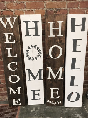 Tall Welcome Sign