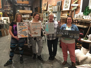 90s Wine and Sign Workshop | Whitby Location