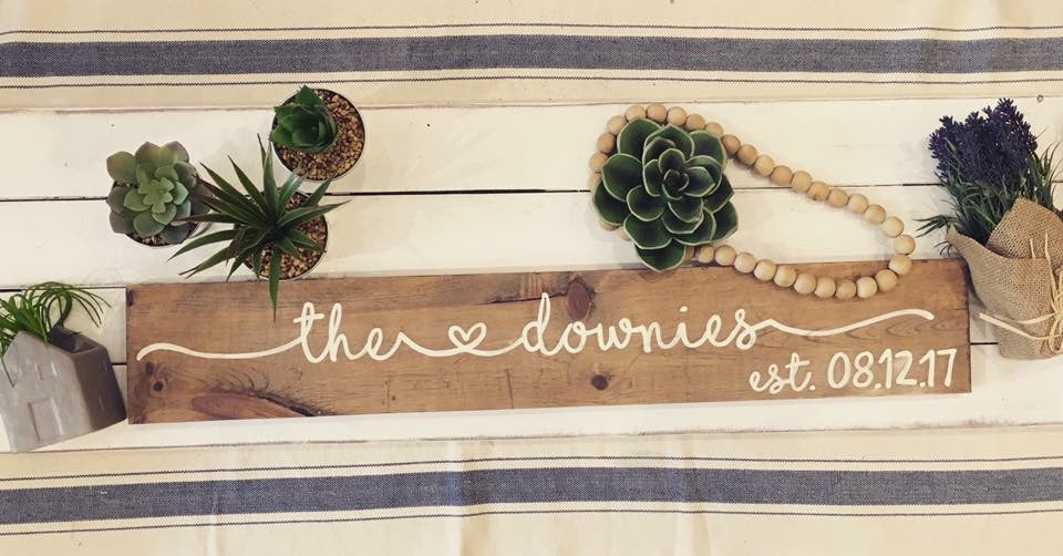 Personalized Last Name Wooden Sign with Est. Date