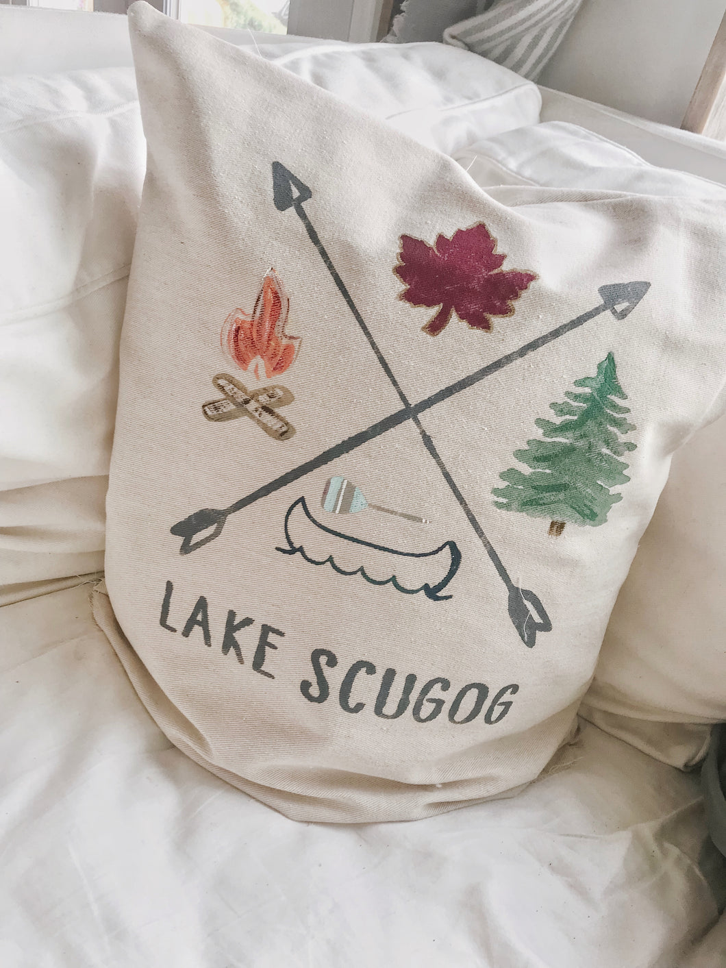 Custom Lake Pillow