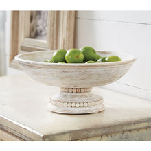 Load image into Gallery viewer, Beaded Pedestal Serving Bowl