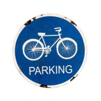 Rustic Bike Parking Sign