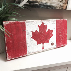 Proud Canadian Wood Block and Penny