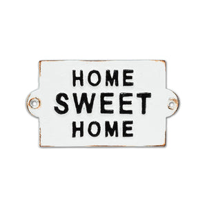 Home Sweet Home Cast Iron Sign