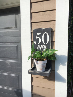 Paint Your Own House Number Planter - Whitby