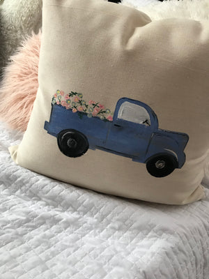 Farmhouse Truck Pillow