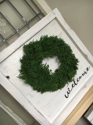 Cedar Wreath with Backer