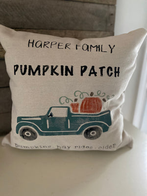 Pumpkin patch vintage truck
