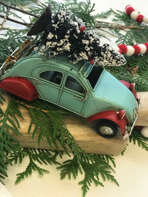 Vintage Car with tree