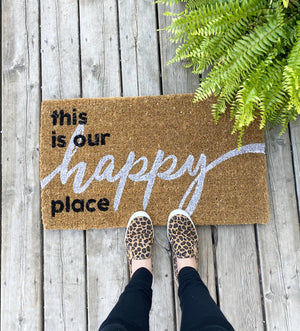 This is My Happy Place Doormat