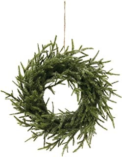 Faux Pine Wreath, Ice Finish