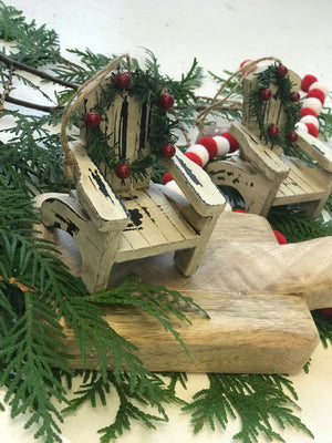 Distressed Muskoka Chair Ornaments