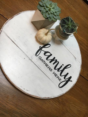 Family Gathers here lazy SUSAN