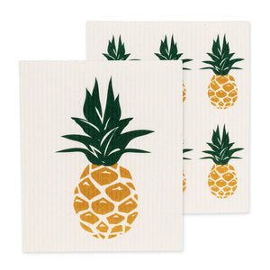 Set of 2 - Pineapple Swedish Dishcloths