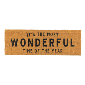 Door Mat-It's the most wonderful time of year