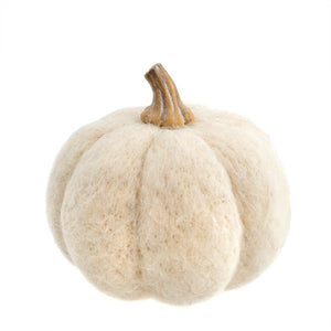 Felt Pumpkins - White