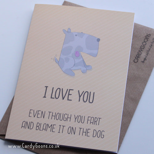 Fart and blame it on the dog | Greetings Card | CardyGoons