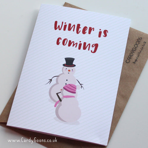 Winter is coming - GOT | Christmas Card | CardyGoons