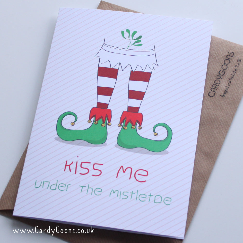 Kiss me under the mistletoe | Christmas Card | CardyGoons