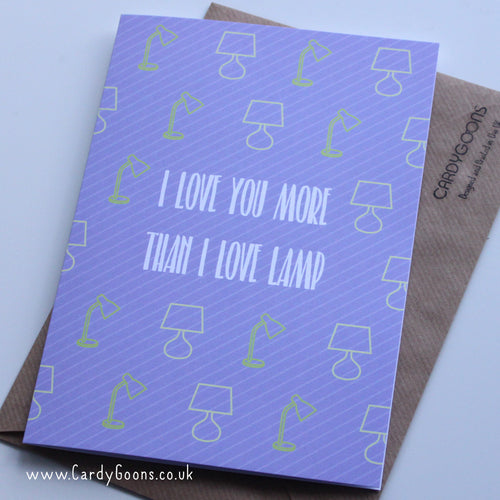 I love lamp | Greetings Card | CardyGoons