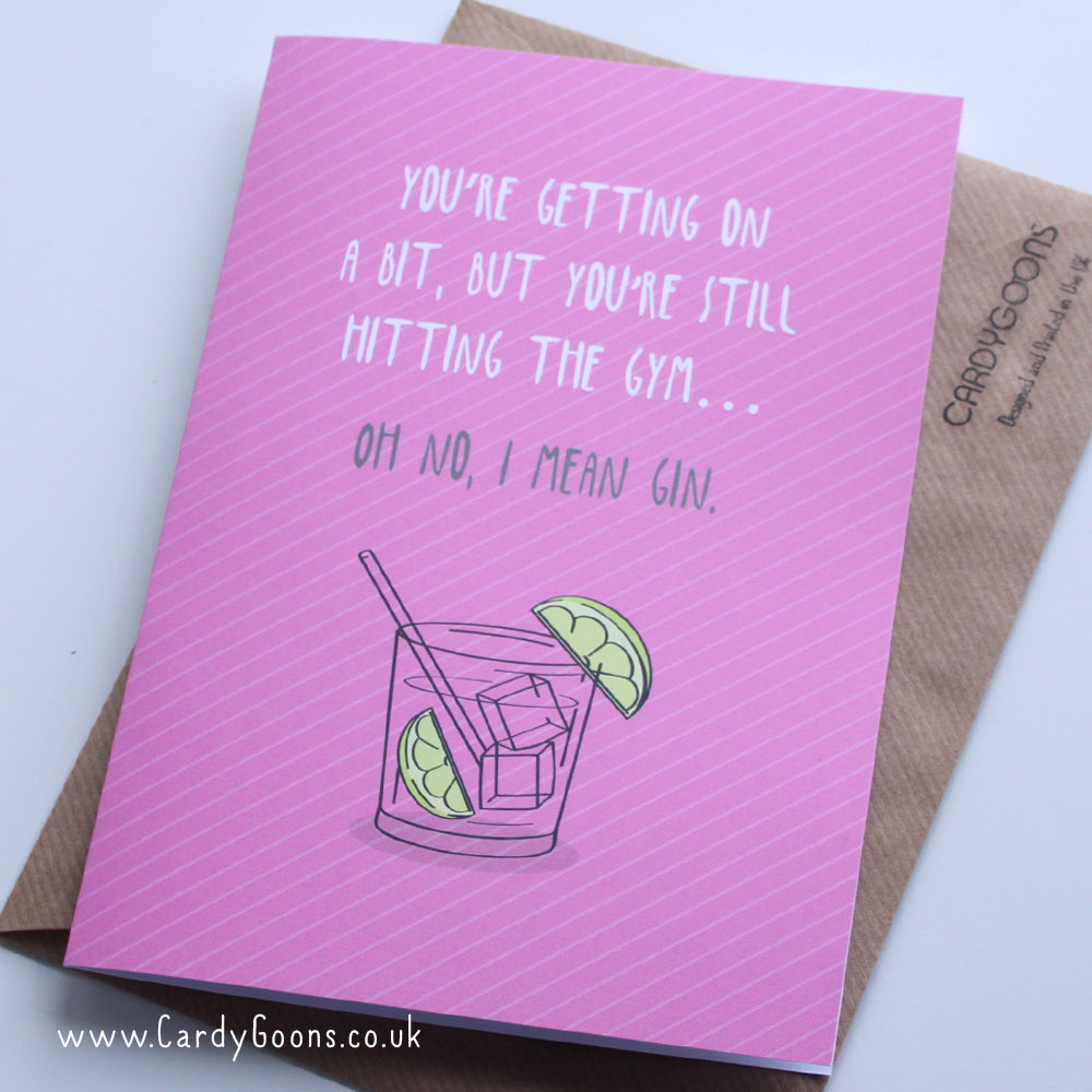 Oh no, I mean Gin | Greetings Card | CardyGoons