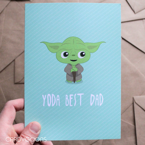 Yoda Best Dad | Greetings Card | CardyGoons