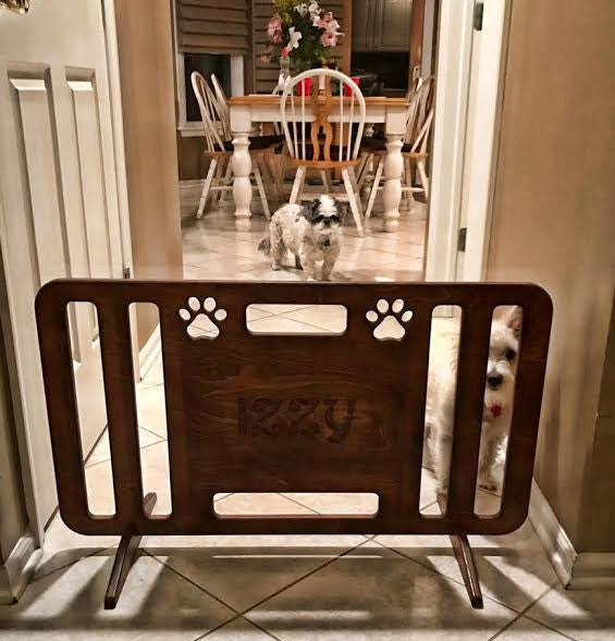 New Doggie Gates for Izzy and Rudi!
