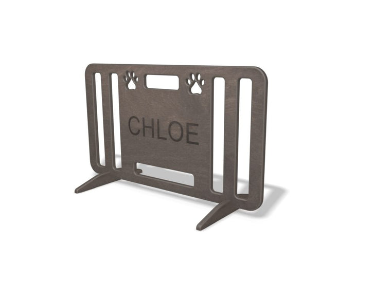 Pawprint Grey 34x20 Dog Gate