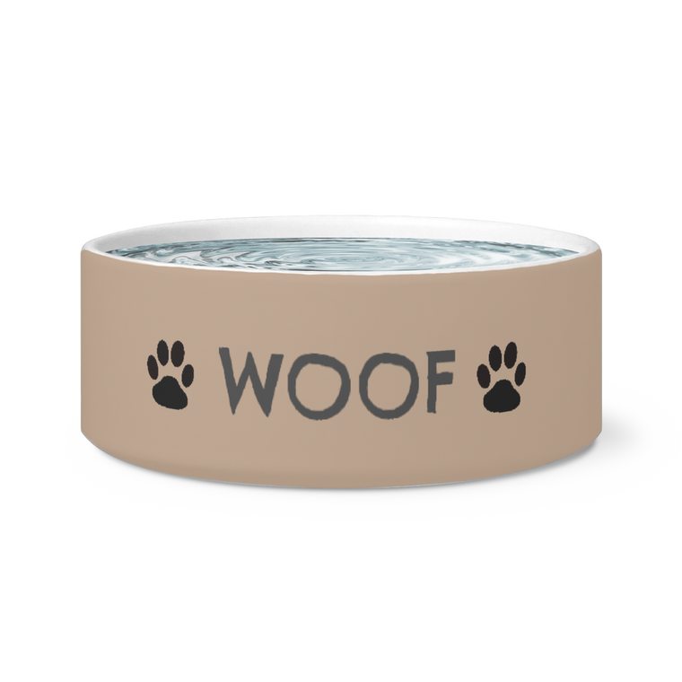 Woof Paw Print Dog Bowl