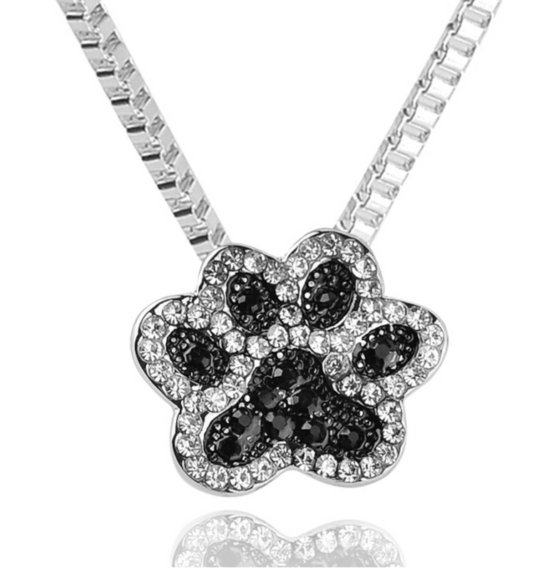 Paw Print Rhinestone Necklace
