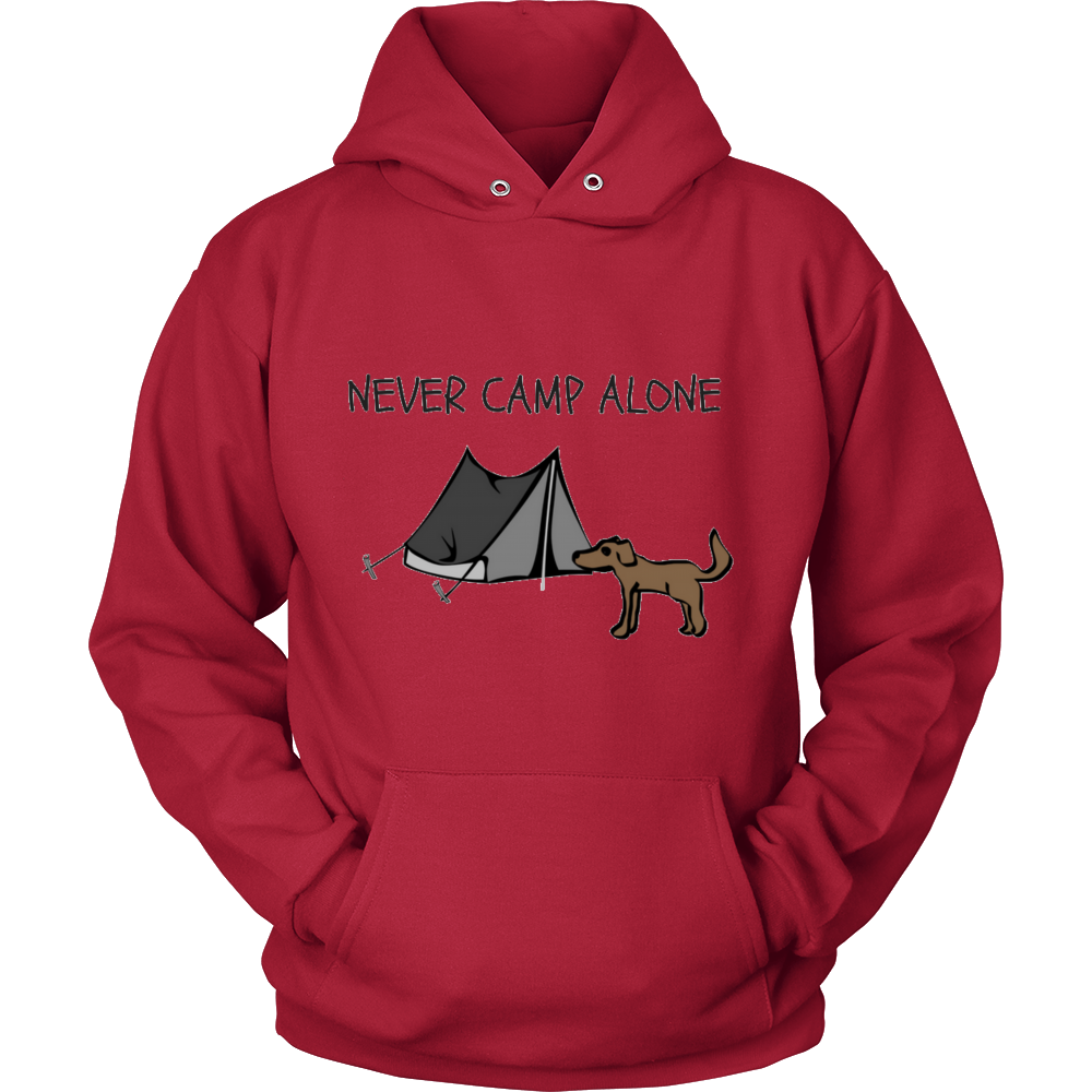 NEVER CAMP ALONE Sweatshirt (Unisex)