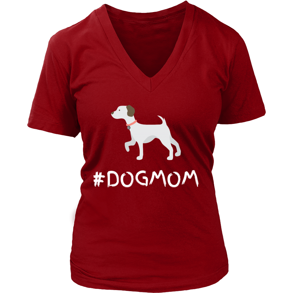 #DOGMOM T-shirt - Womens V-Neck