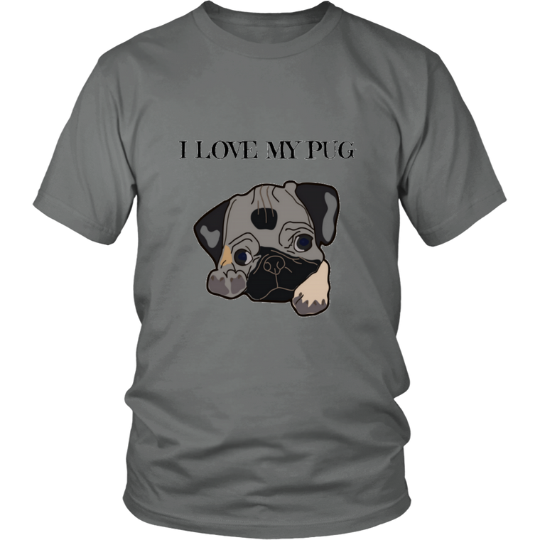 I LOVE MY PUG T-shirt (Unisex)