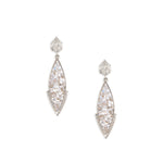diamond sterling silver drop earrings