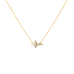 diamond pendant gold necklace chain